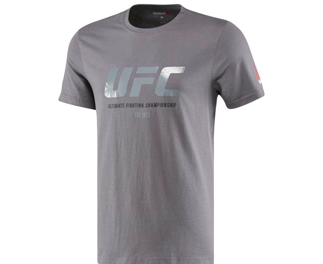 Футболка UFC Ultimate Fan Logo Tee серая