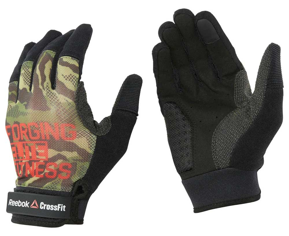 Перчатки для фитнеса CrossFit Mens Training Glove черно-зеленые