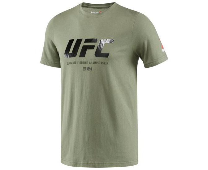 Футболка UFC Ultimate Fan Logo Tee зеленая