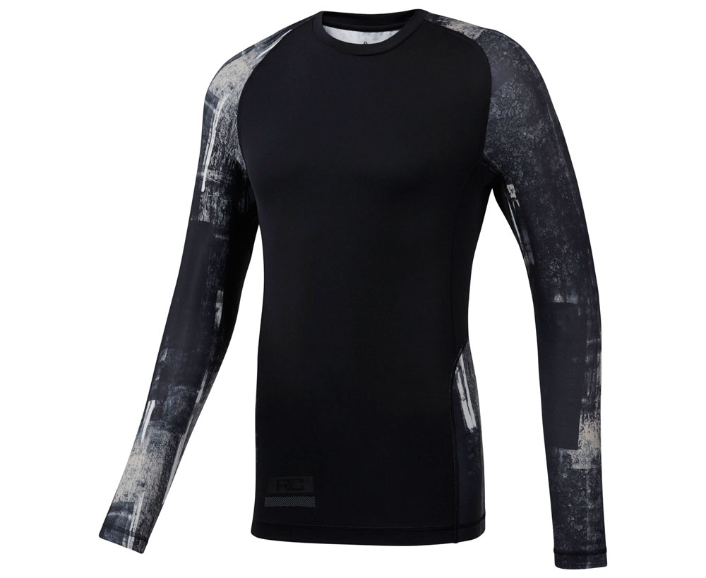 Футболка компрессионная Combat Long Sleeve Rushguard черно-серая