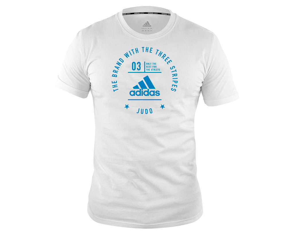 Футболка The Brand With The Three Stripes T-Shirt Judo бело-голубая