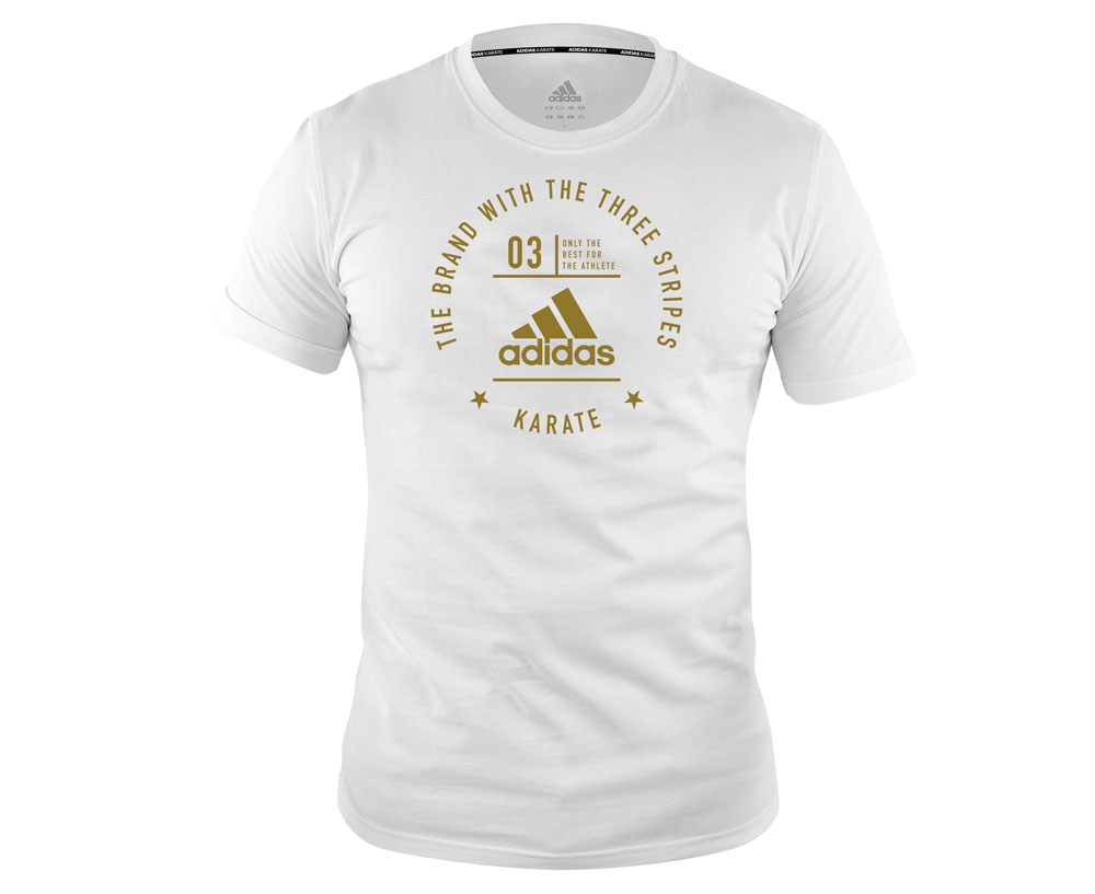 Футболка The Brand With The Three Stripes T-Shirt Karate бело-золотая