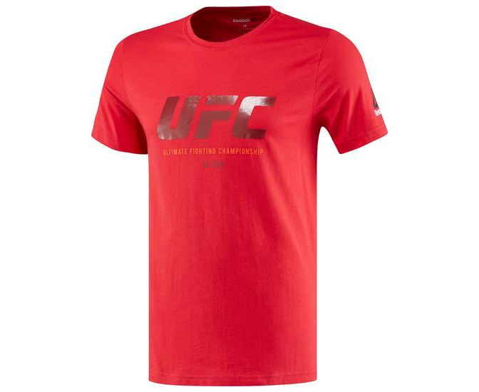 Футболка UFC Ultimate Fan Logo Tee красная